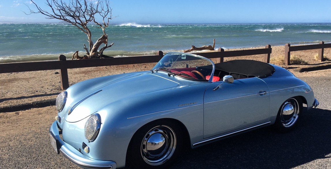 Mano: Arctic Blue 1957 Porsche 356 Speedster reproduction ...
