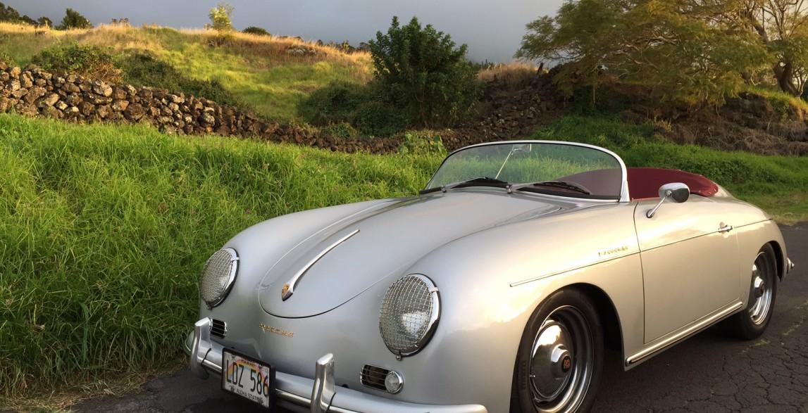 Hoku Silver 1957 Porsche 356 Speedster Reproduction Maui